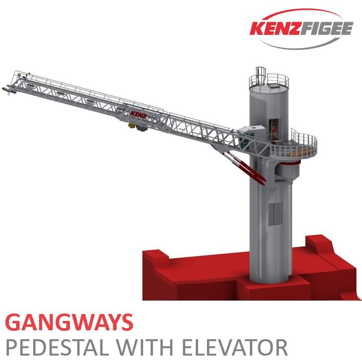 KenzFigee_Active_Motion_Compensated_Gangway_Pedestal_with_elevator_Orange_Delta_Equipment20