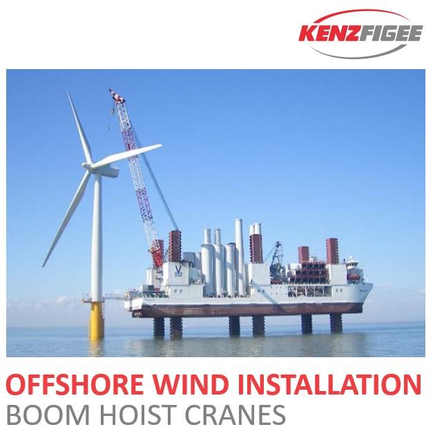 KenzFigee_Offshore_Wind_Installation_Boom_Hoist_crane_Orange_Delta_Equipment