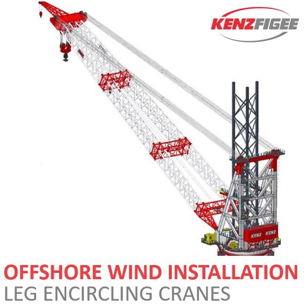KenzFigee_Offshore_Wind_Installation_Leg_Encircling_crane_Orange_Delta_Equipment
